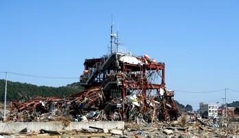 津波の被害にあった建物